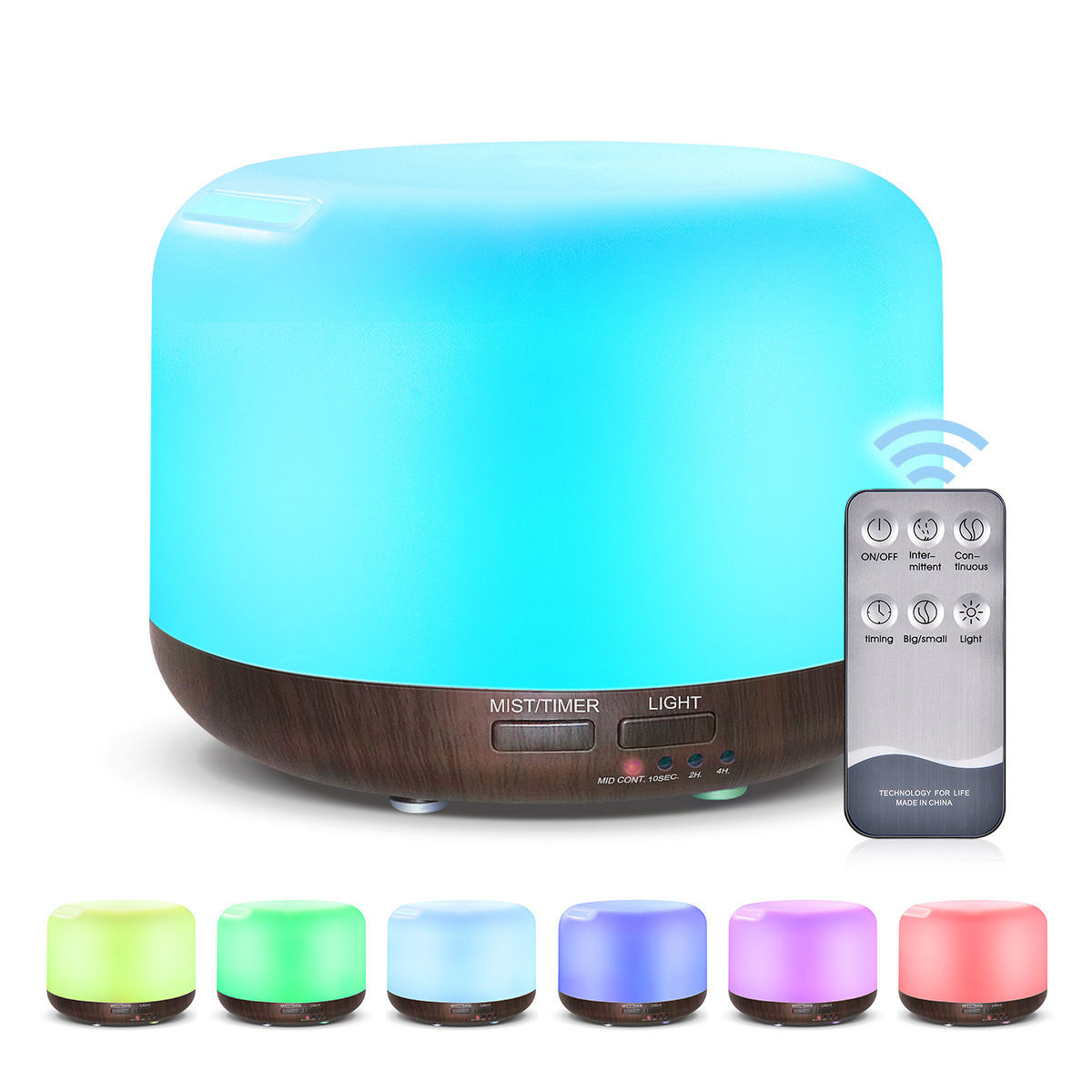 Remote Control Wood Grain Ultrasonic Mute Humidifier