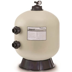 TR100 30 in. Side Mount Fiberglass Sand Filter Without Valve, Triton II, Almond