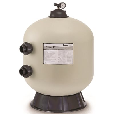 36 in. Side Mount Fiberglass Sand Filter without Valve in Almond