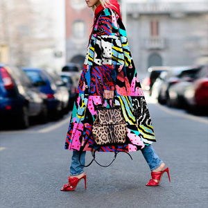 Zebra Color Printed Coat