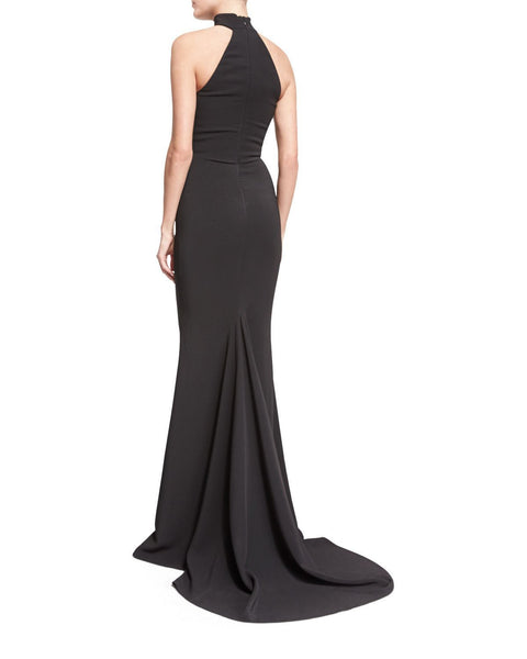 Fishtail Halter Evening Dress