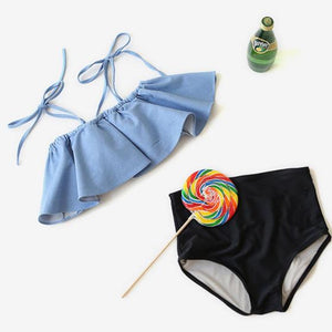 Lovely Ruffle Swimwear Bikini Set