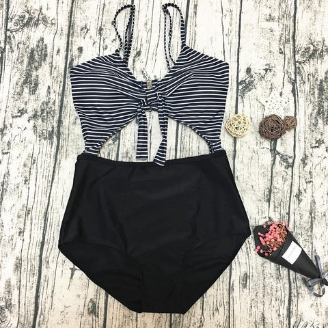 Ladies Sexy Striped Bikini Swimwear