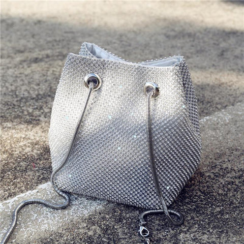 Fashion Paillette Mental Chain One Shoulder Bag