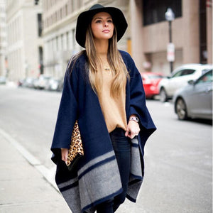 Chic Elegant Casual Thermal Rectangle Cape Scarf