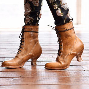 Winter High Heel Women Leather Boots