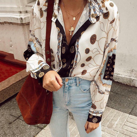 Fashion Printed Long Sleeve Shirt