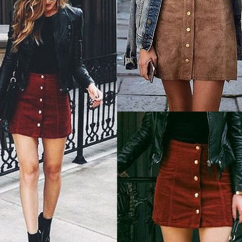 Fashion Leather Skirt