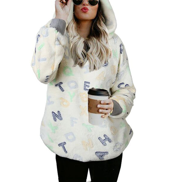 Fashion Plain Long Sleeve Hoodies Sweatshirts