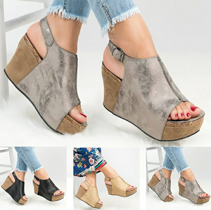 Fashion Elegant Women's Slope Platform Sandals