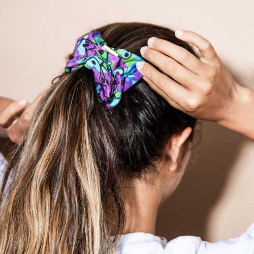 What's Your Sign? 3 Pack of Scrunchies (Horoscope, Pink Sunglasses, Tie Dye)