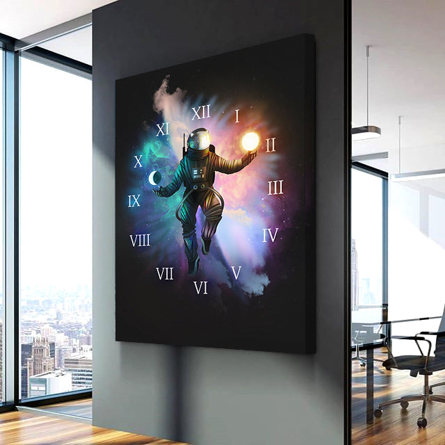 Astronaut Canvas Clock
