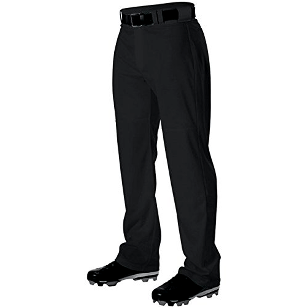 Alleson Athletic Adult Warp Knit Baseball Pants - Black
