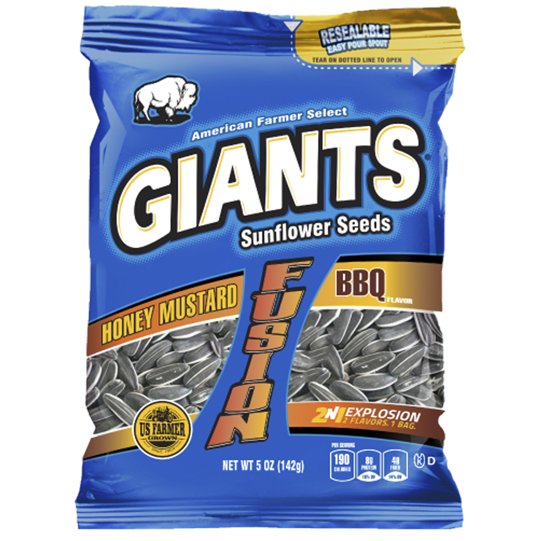 Giants Honey Mustard and BBQ Flavor Fusion Sunflower Seeds_Base 2 Base Sports