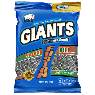 Giants Nacho and Dill Flavor Fusion Sunflower Seeds_Base 2 Base Sports