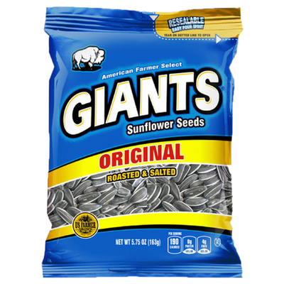 Giants Original Salted Sunflower Seeds_Base 2 Base Sports