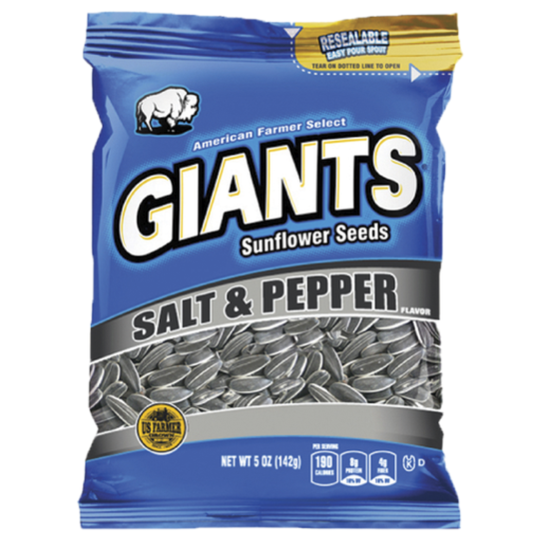 Giants Salt & Pepper Sunflower Seeds