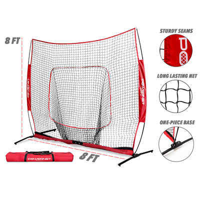 PowerNet XLP PRO 8x8 Baseball Softball Hitting Net