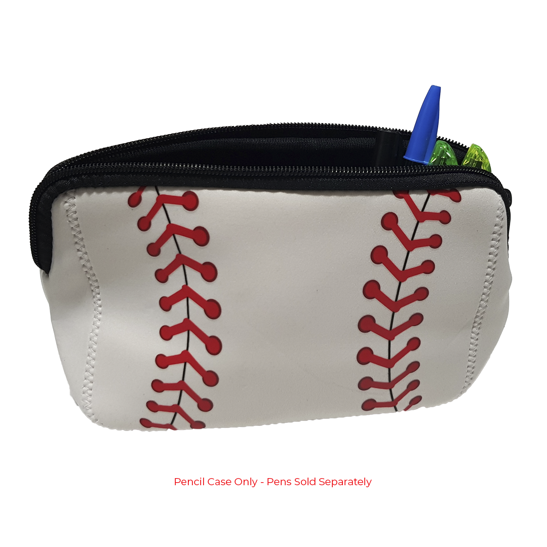 Baseball Print Pencil Case