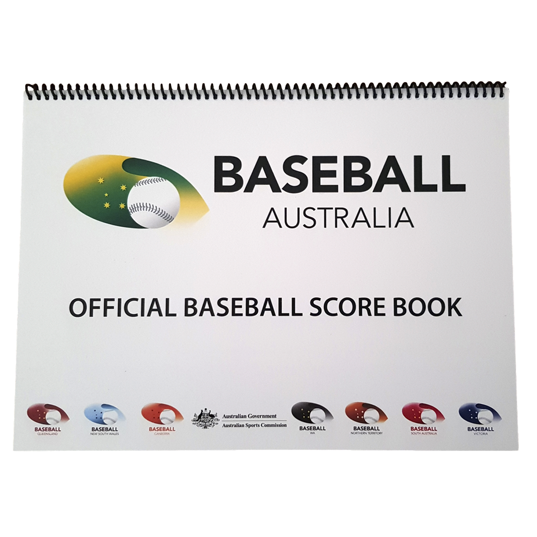 Baseball Australia Official Baseball Score Book - 9 Batter - Base 2 Base Sports