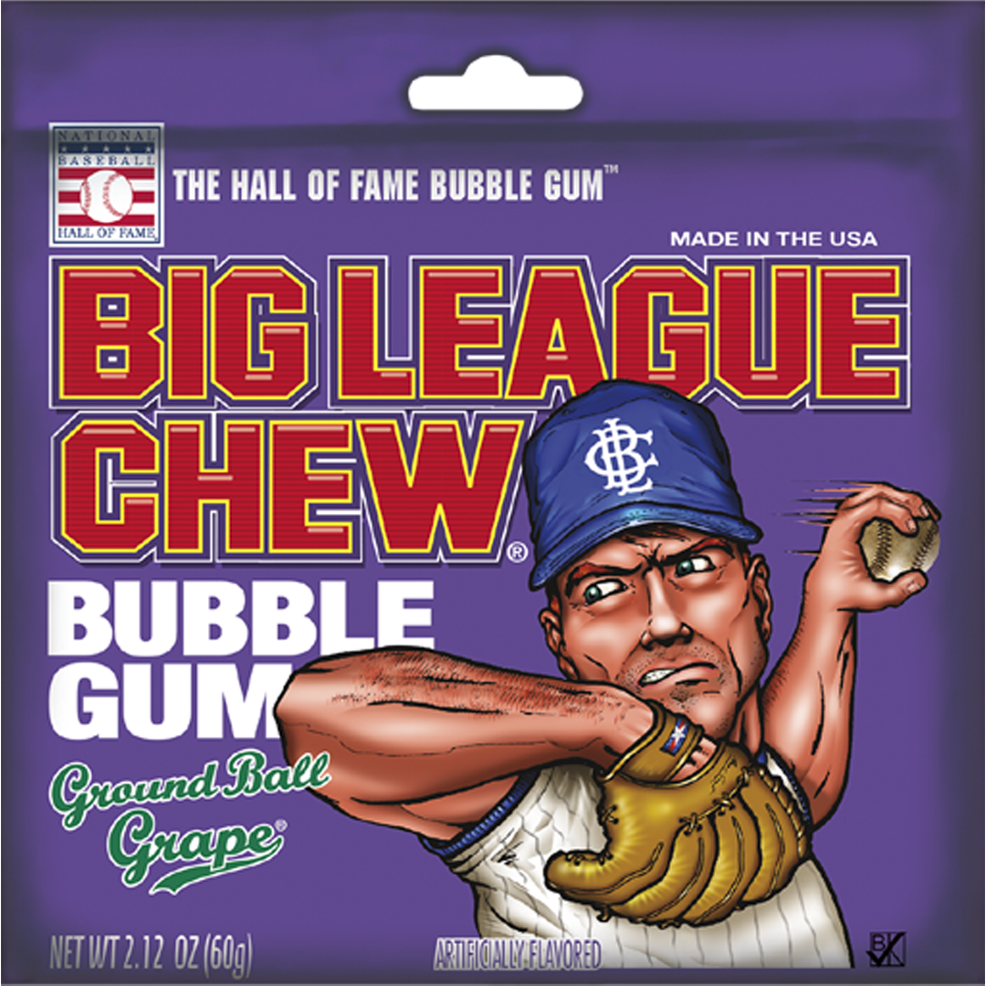 Big League Chew_Ground Ball Grape_Base 2 Base Sports