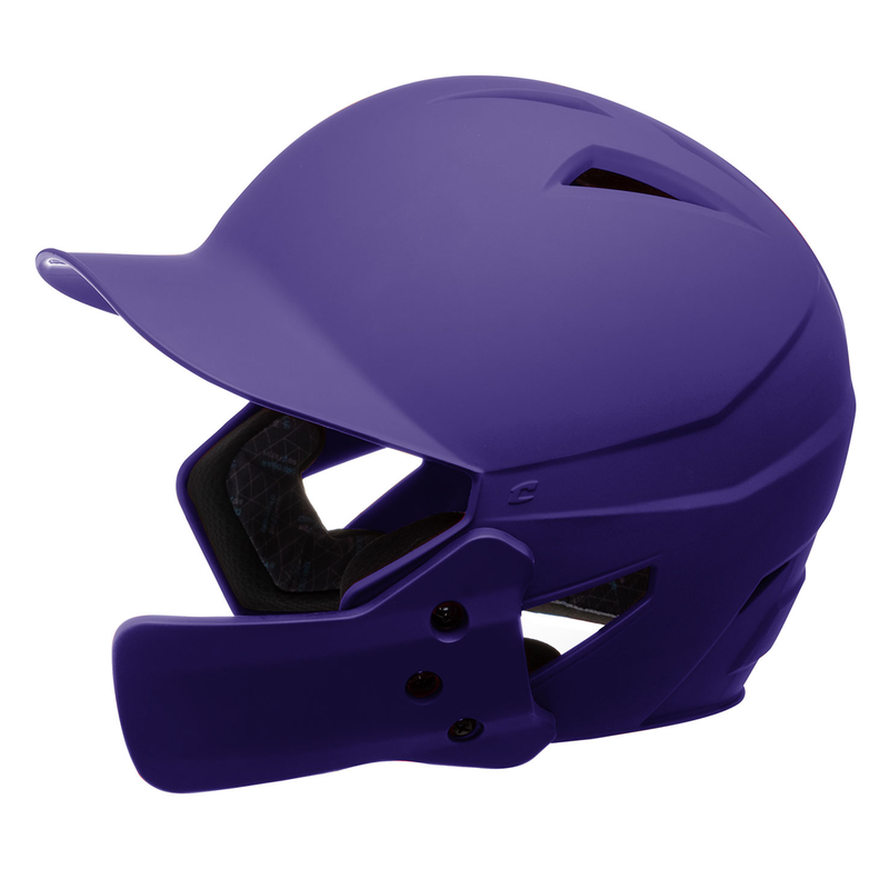 Champro HX Gamer Plus Batting Helmet with Jaw Guard Junior_Purple_HXMJGPU_Base 2 Base Sports