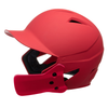 Champro HX Gamer Plus Batting Helmet with Jaw Guard Senior_Red_Scarlet_HXMJGSCS_Base 2 Base Sports