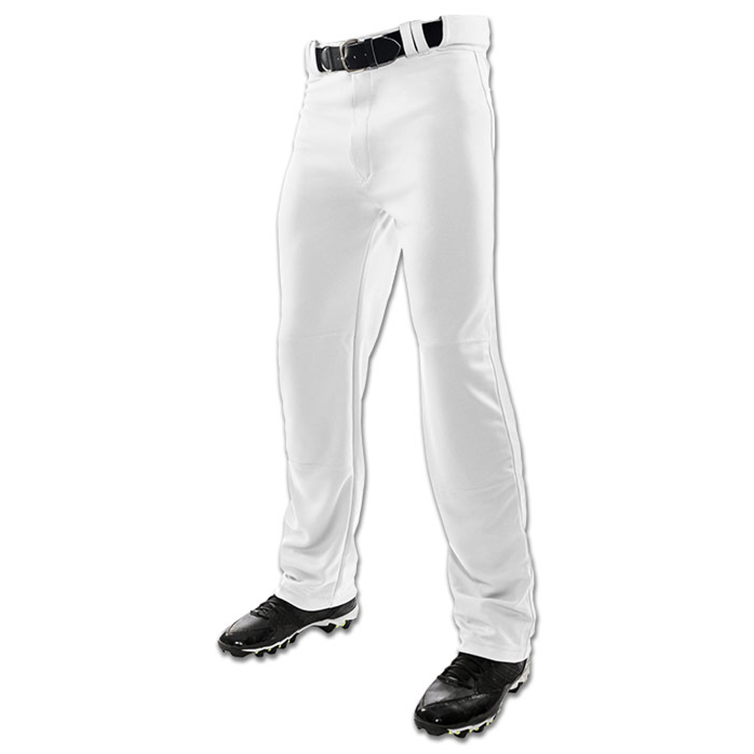 Champro MVP Open-Bottom Relaxed Fit Adult Baseball Pants - White