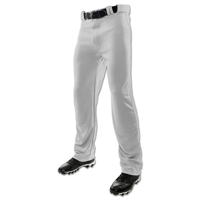 Champro MVP Open-Bottom Relaxed Fit Adult Baseball Pants - Grey