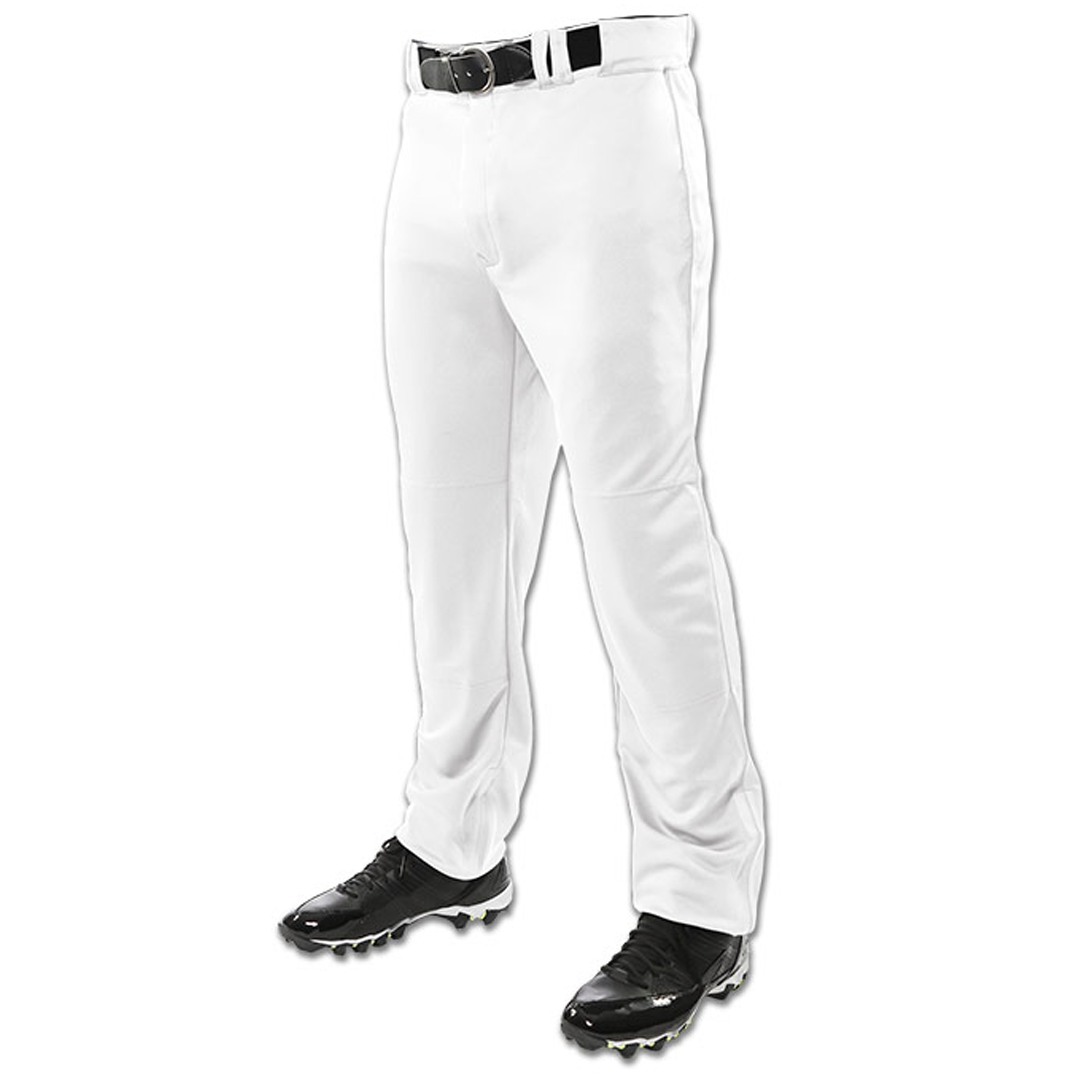 Champro Triple Crown BP9UA Open-Bottom White Baseball Pants_Base 2 Base Sports