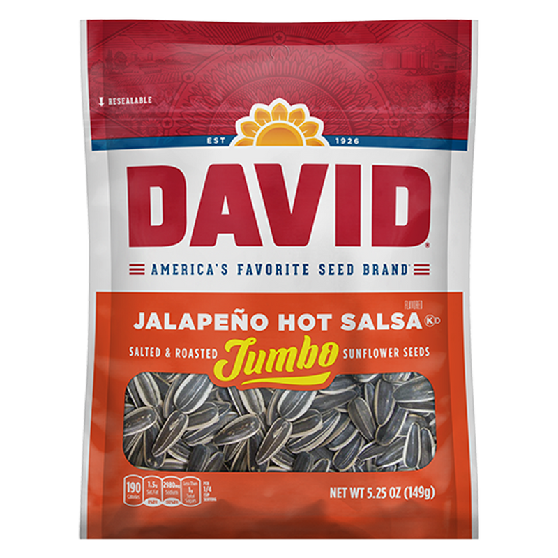 David Sunflower Seeds_Jalapeno Hot Salsa_Base 2 Base Sports