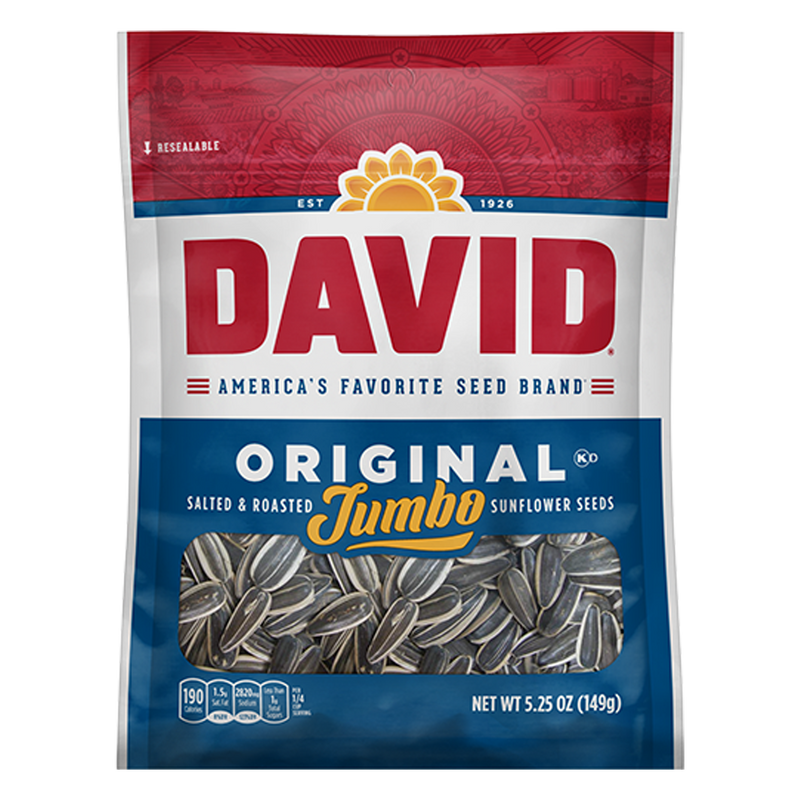 DAVID Original Salted Jumbo Sunflower Seeds_Base 2 Base Sports