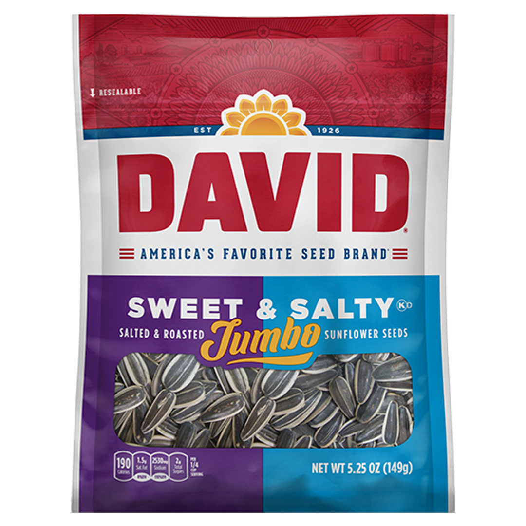 David Sunflower Seeds_Sweet and Salty_Base 2 Base Sports