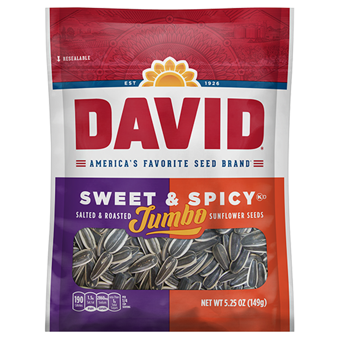 David Sunflower Seeds_Sweet and Spicy_Base 2 Base Sports