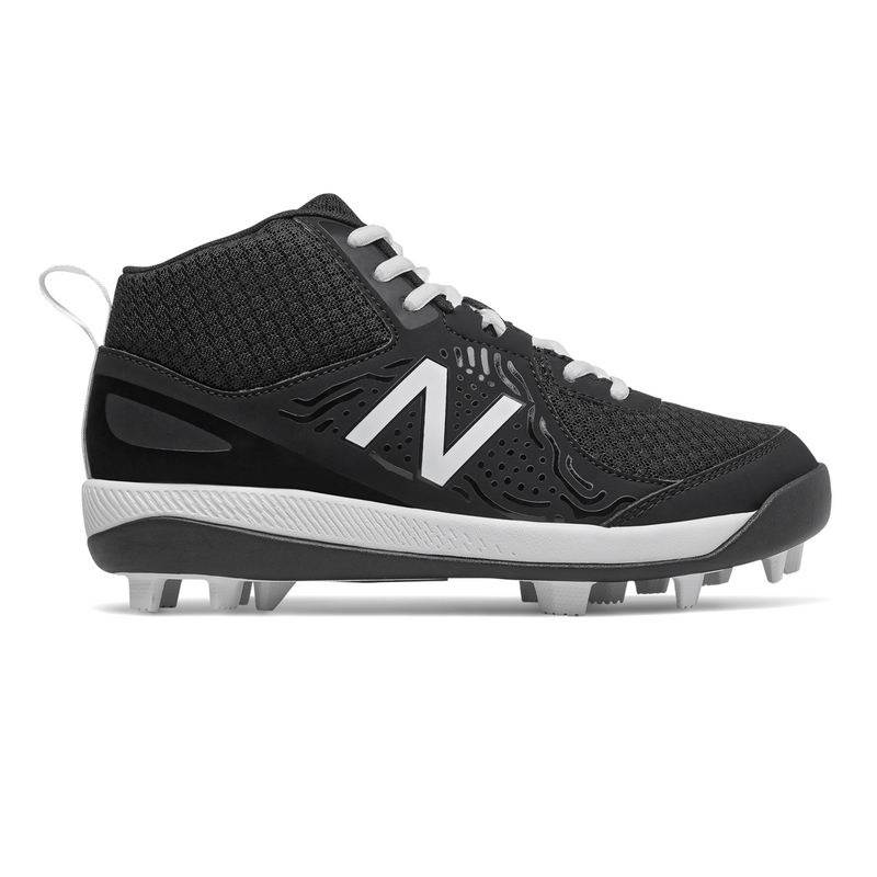 New Balance J3000BK5 Youth Mid Moulded Baseball Cleats_Base 2 Base Sports