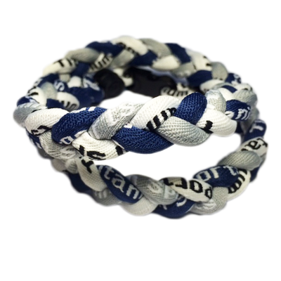 Titanium Braided Baseball Necklace Navy, Grey & White_Base 2 Base Sports