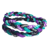 Titanium Braided Baseball Necklace Purple, Black & Teal_Base 2 Base Sports