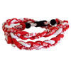 Titanium Braided Baseball Necklace Red & White_Base 2 Base Sports