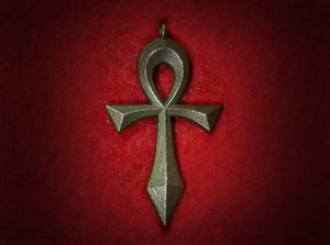Swept Ankh (Hollow) 3d printed Swept Ankh in Polished Bronze Steel
