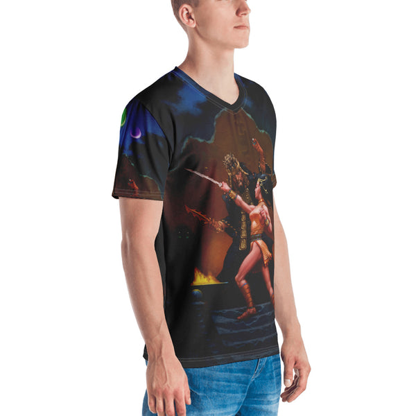 Bethorm All-Over Print Men's V-Neck T-Shirt