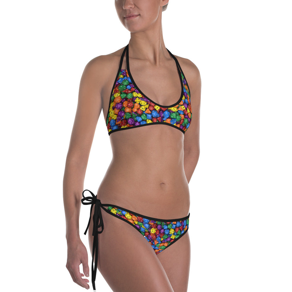 Polyhedral All-Over Print Bikini