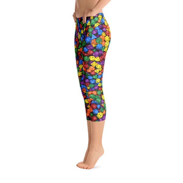 Polyhedral All-Over Print Women's Capri Leggings