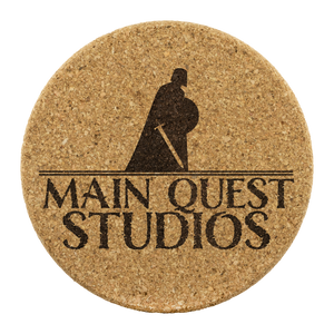 Main Quest Studios Cork Coasters