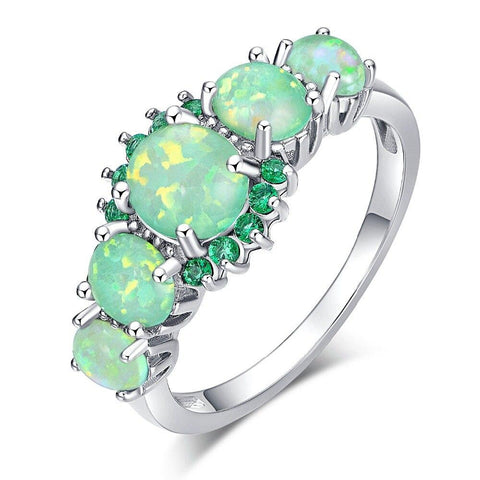 Opal can be found in locations like Brazil, Mexico, Honduras, and the Western part of the United States. It is also the official gemstone of Australia.