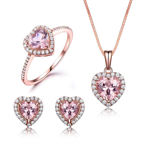 Elegant Morganite Jewelry Set