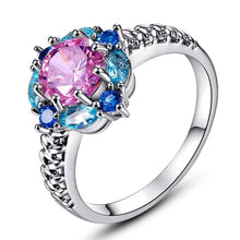 Load image into Gallery viewer, Flower Cubic Zirconia Chic Ring