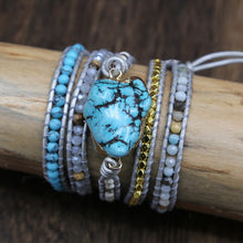Load image into Gallery viewer, Natural Turquoise Healing Bracelet