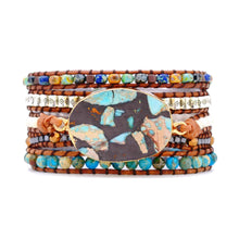 Load image into Gallery viewer, Conquer Healing Emperor Jasper Bracelet
