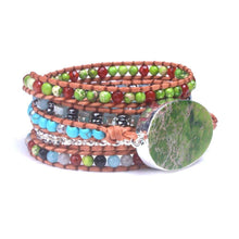 Load image into Gallery viewer, Dreamy Jasper Wrap Bracelet