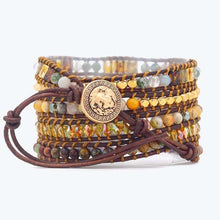 Load image into Gallery viewer, Diana Moonlight Agate Wrap Bracelet
